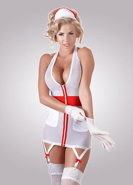 Powernet Nurse Dress - Cottelli Collection