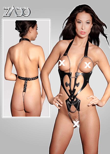 Læder/Kæde Onament Body