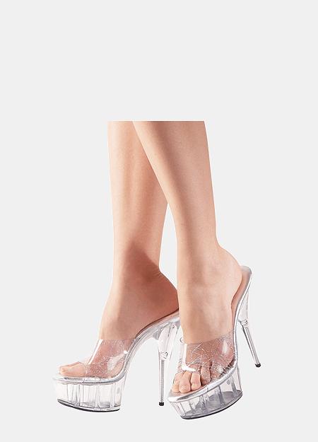 Klar Platform Sko - Cottelli High Heels