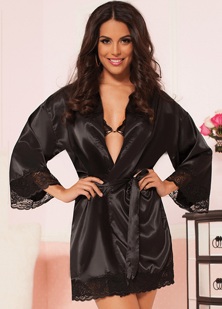 Satin Blonde Robe