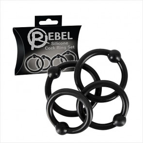 Silicone Cockring Set - Rebel - Penisringe sæt