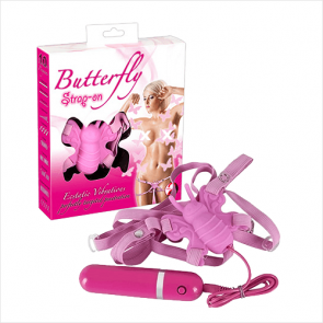 Pink Butterfly Strap-On