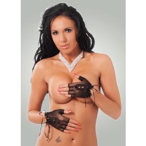 Kort Fingerfri Net Handske