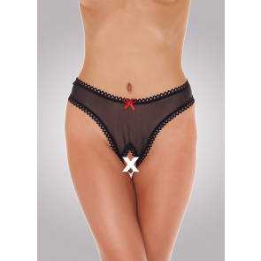 Mesh Open Crotch G-string