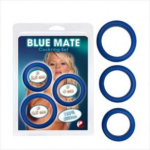 Blue Mate Cockring Set - You2toys - Penisring sæt