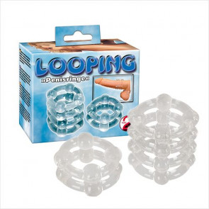 Looping Silicon Penisringe - You2toys - Penisring Sæt